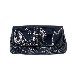 Parent leather Gucci clutch - bamboo collection